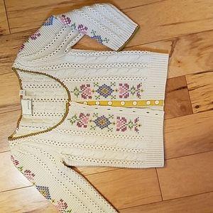 vintage anthro 3/4 sleeve sweater